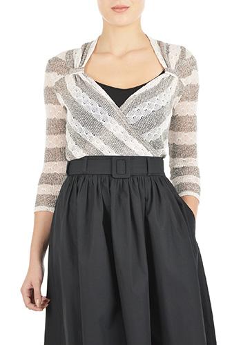 eShakti Womens Vintage style sweater knit top $39.95 AT vintagedancer.com