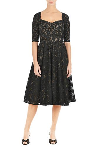 eShakti Womens Amelia dress $99.95 AT vintagedancer.com