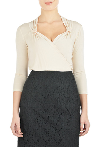 eShakti Womens Vintage style knit top $49.95 AT vintagedancer.com