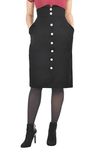 High waist ponte knit skirt $59.95 AT vintagedancer.com
