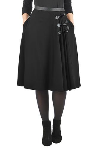 Ponte knit toggle skirt $89.95 AT vintagedancer.com