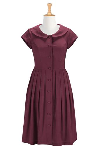 Shawl collar crepe shirtdress $59.95 AT vintagedancer.com