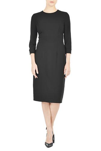 eShakti Womens Banded waist twill sheath dress $69.95 AT vintagedancer.com