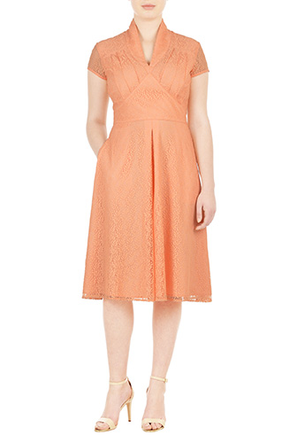 Feminine pleated lace dress $109.95 AT vintagedancer.com