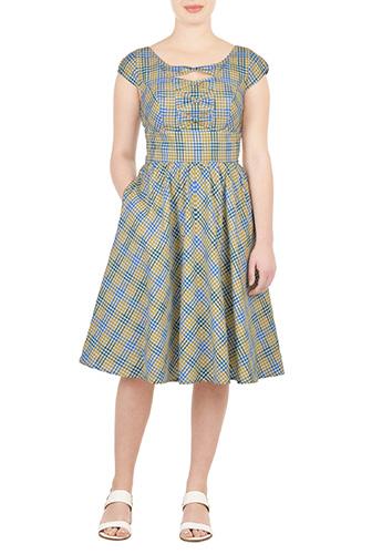 check bow front dress $59.95 AT vintagedancer.com