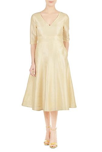 1950s Style Dresses eShakti Womens Ainsley dress $221.95 AT vintagedancer.com