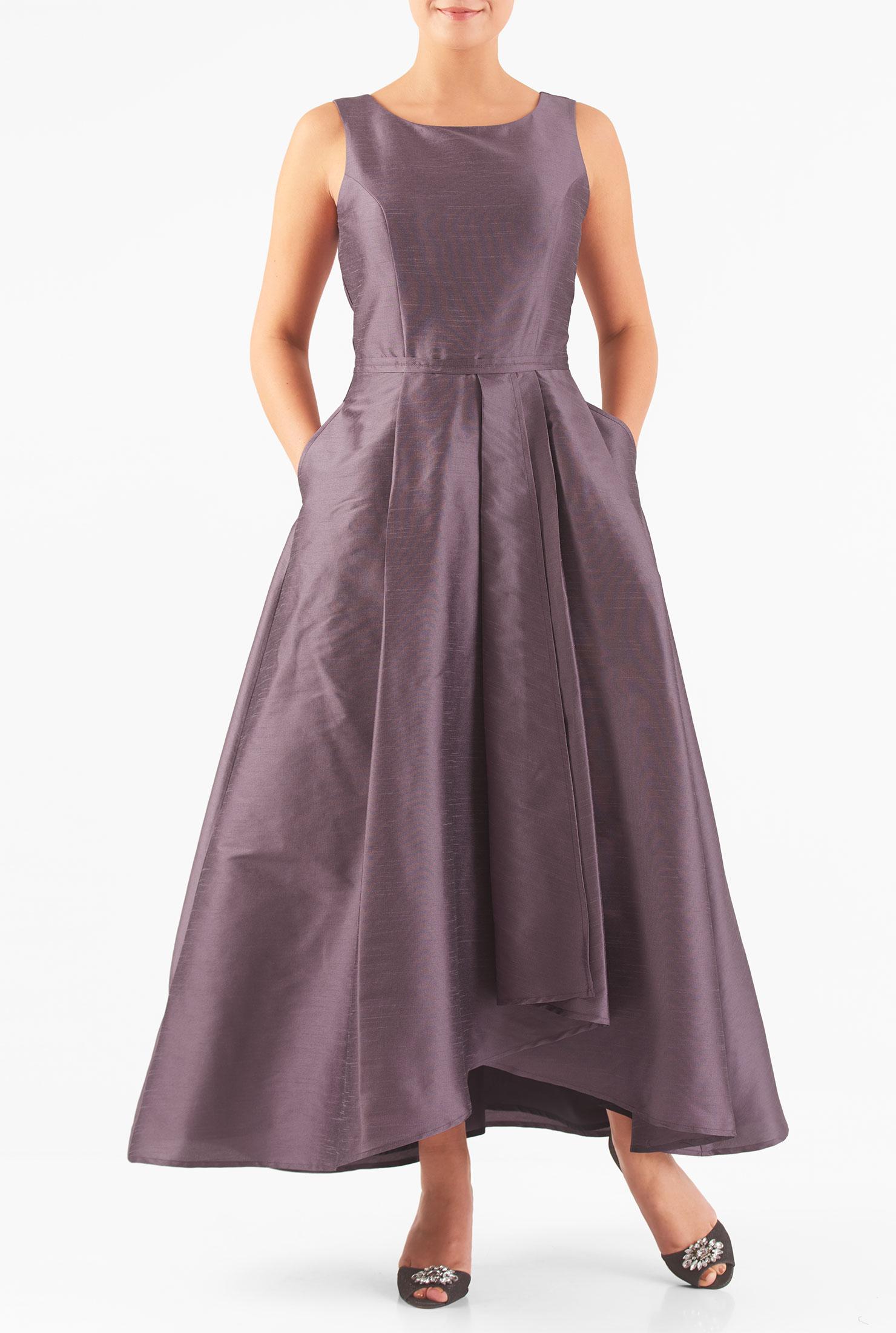 Store eshakti the best selection and prices in fashion eshakti womens asymmetric wrap skirted dupioni dress ombrellifo Choice Image
