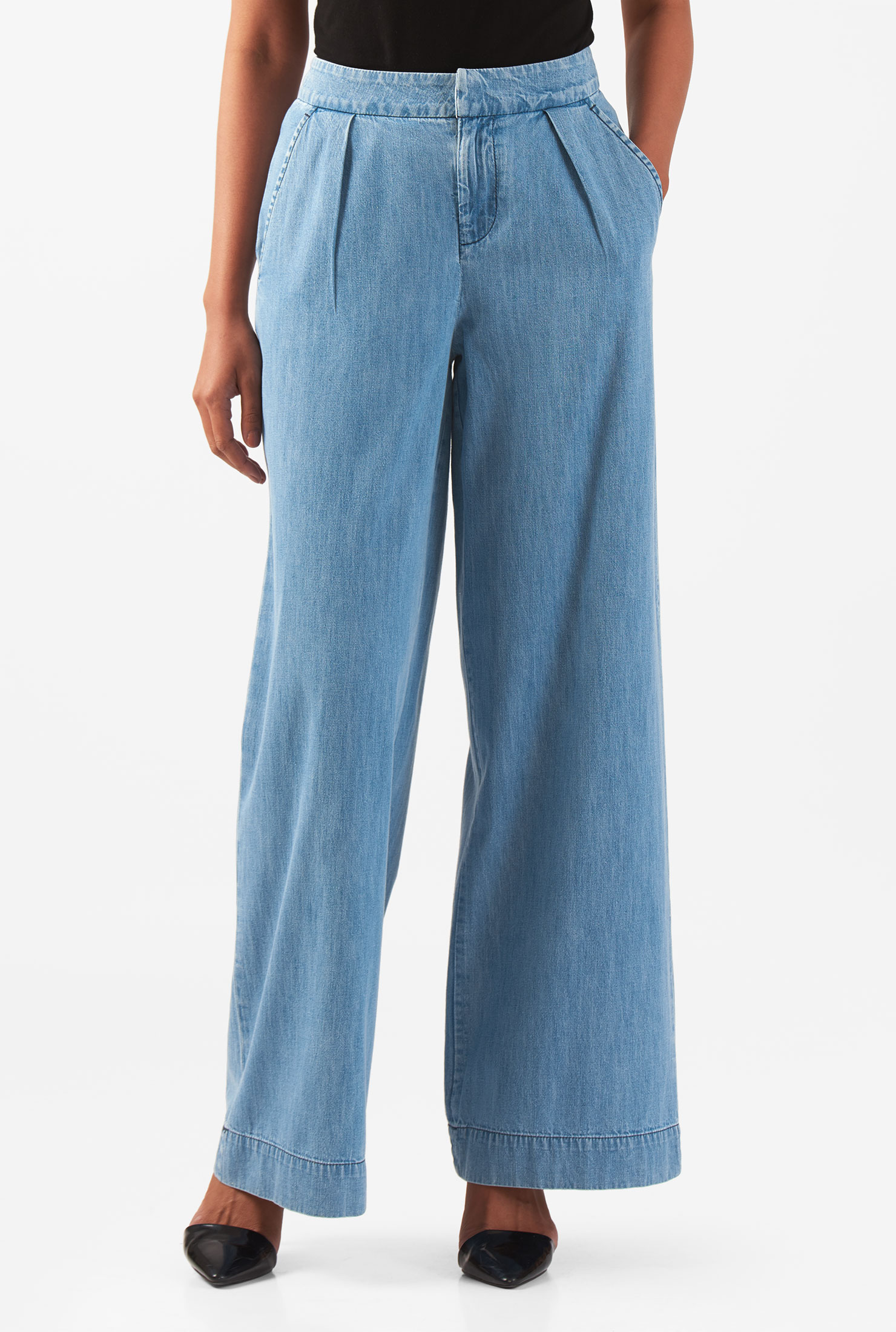 Womens Plus Size Rolled Cuff Linen Crop Pants