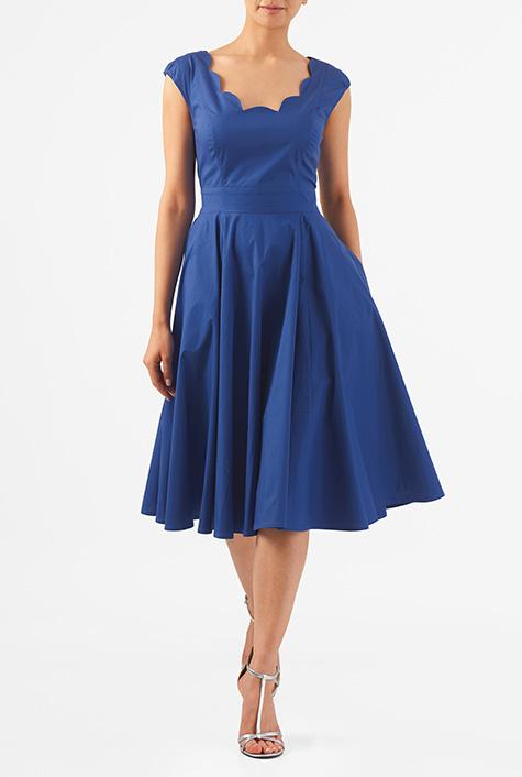 1940s Pinup Dresses for Sale eShakti Womens Virginia dress $57.95 AT vintagedancer.com