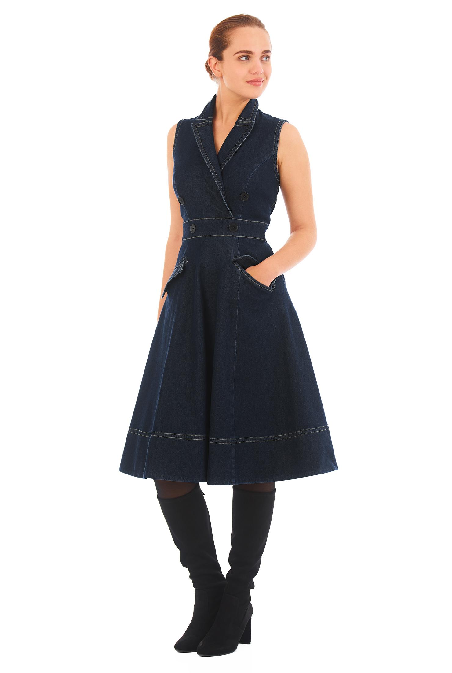 403db322bd Denim Jumper Dress - Dress Foto and Picture