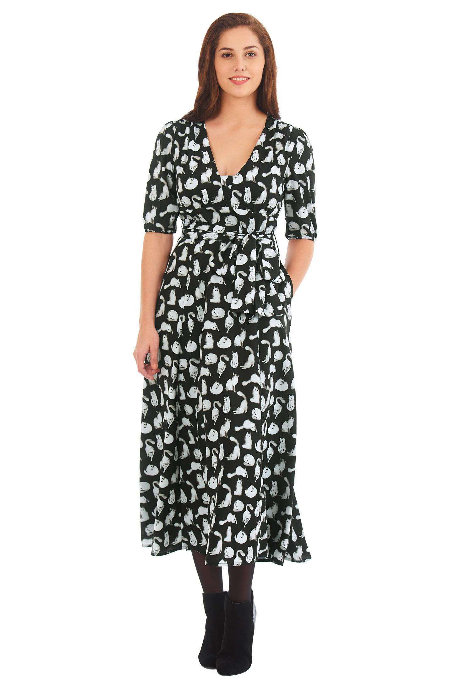 Black and White Print Dress
