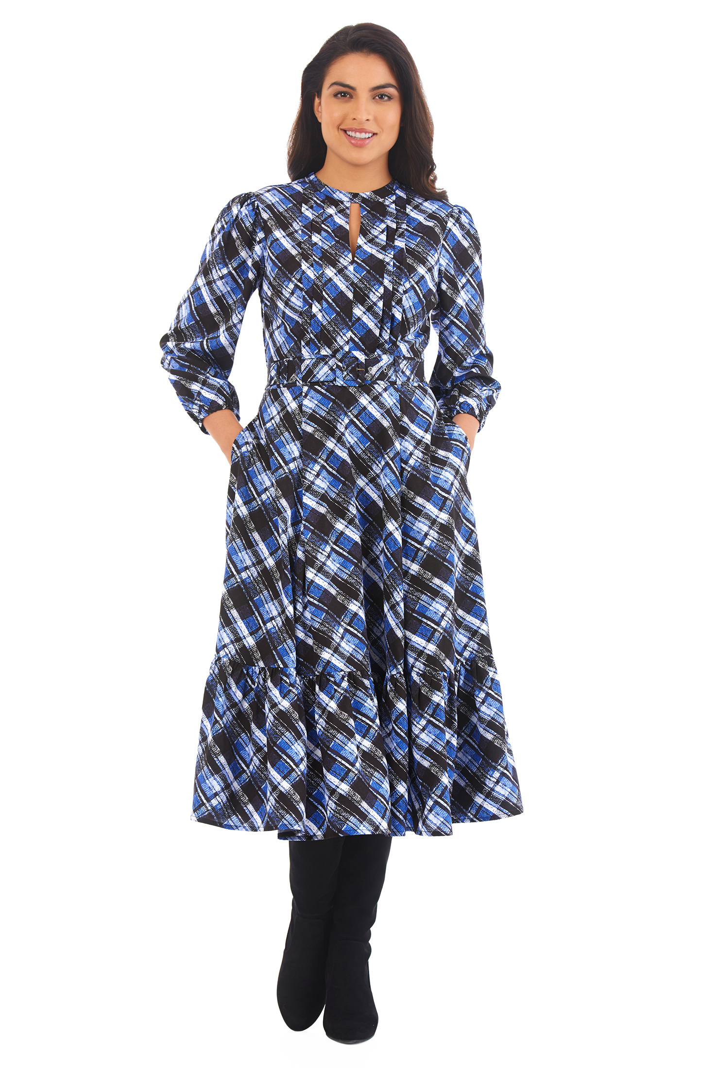 9a9846e38b7 Ladies Black And White Check Dress - Gomes Weine AG