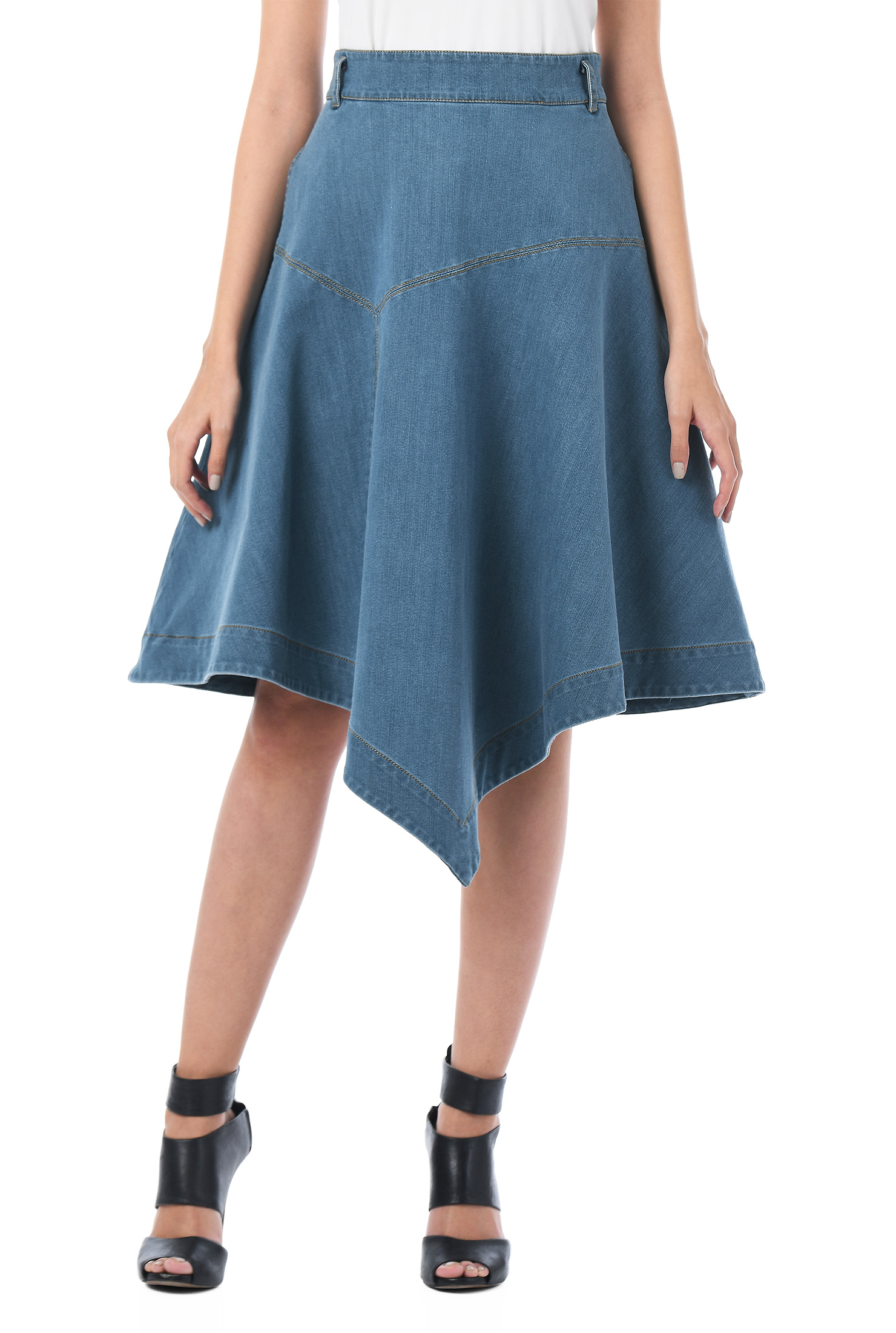 e206c29e50 Back zip skirts, banded waist skirts, Cotton/polyester/spandex skirts,