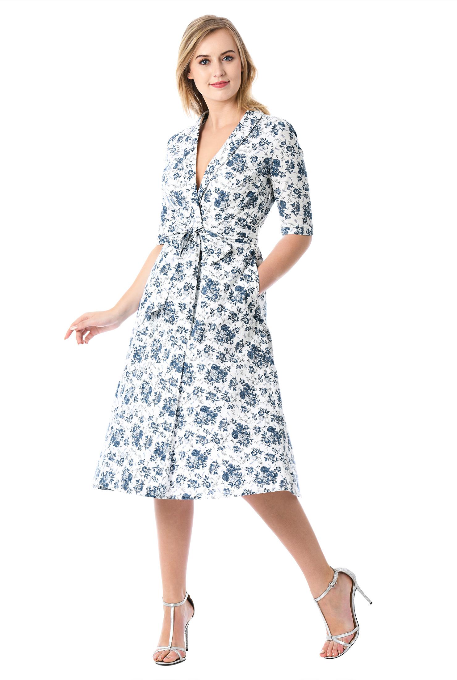 Shawl Collar Cocktail Dress