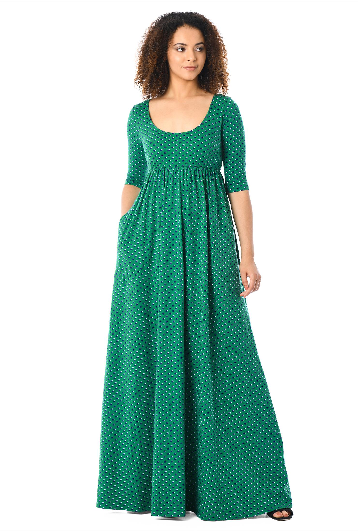 8ee54377a53d back zip dresses, Colorblock Dresses, cotton dresses, elbow length sleeve  dresses,