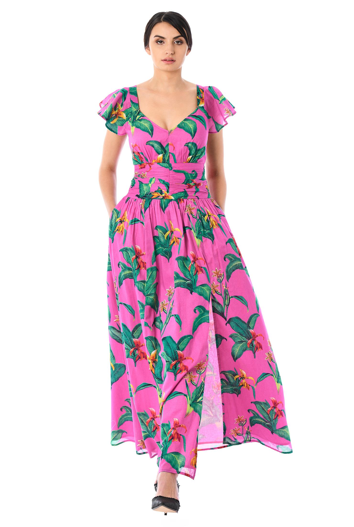 80f8e01b9139 back zip dresses, cap sleeves dresses, cotton dresses, elastic waist dresses  ,