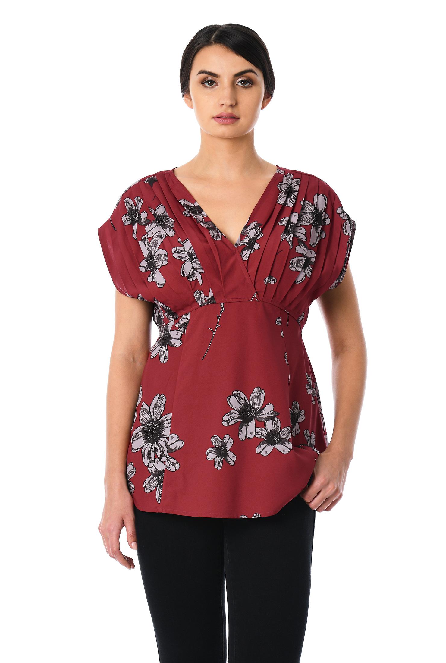 0481468bd2df Blouses, dolman sleeves tops, floral print blouses, Floral Print Tops,  lightweight