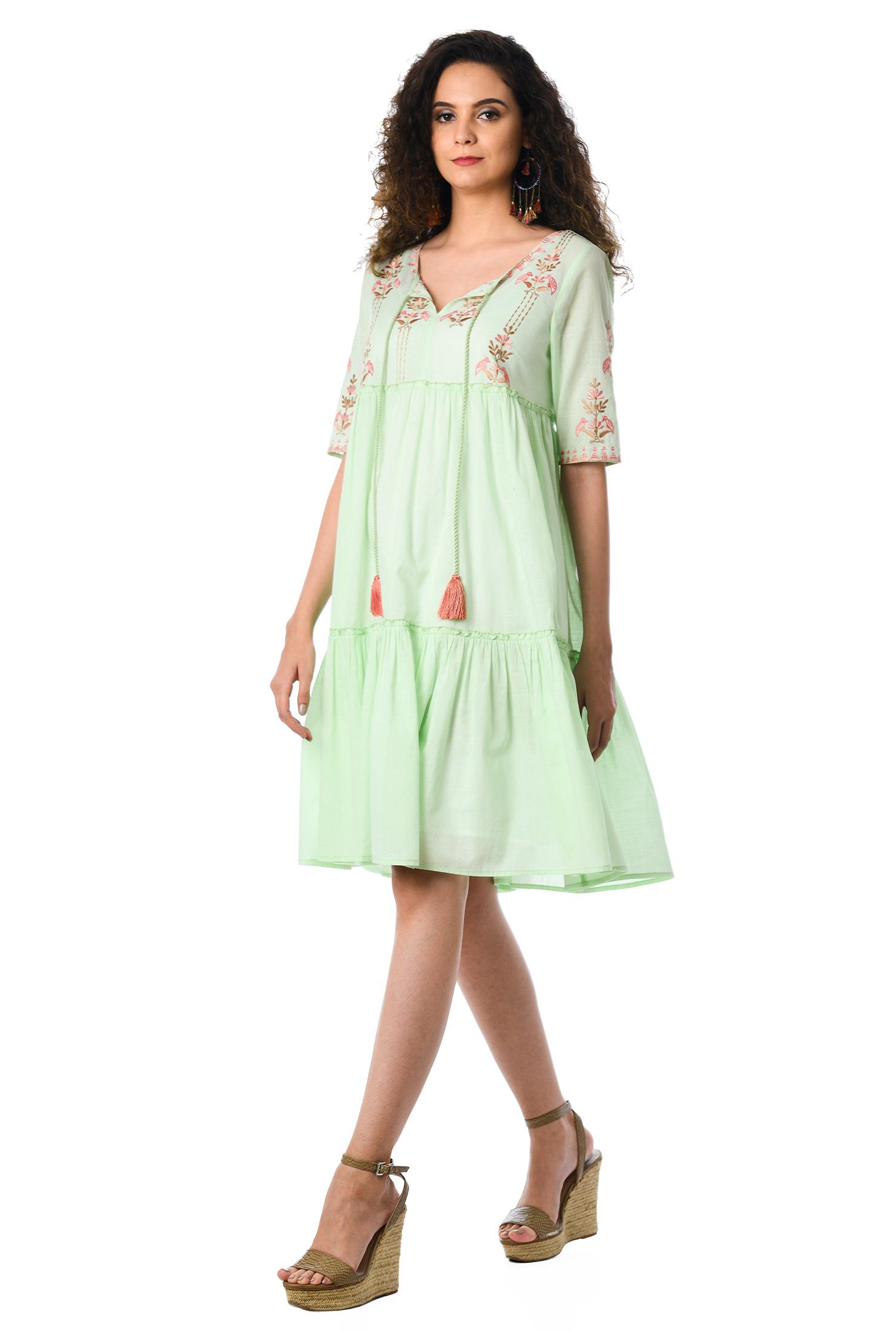 89c6ba58e5b ... Embellished cotton ruffle tier shift dress. Out of Stock