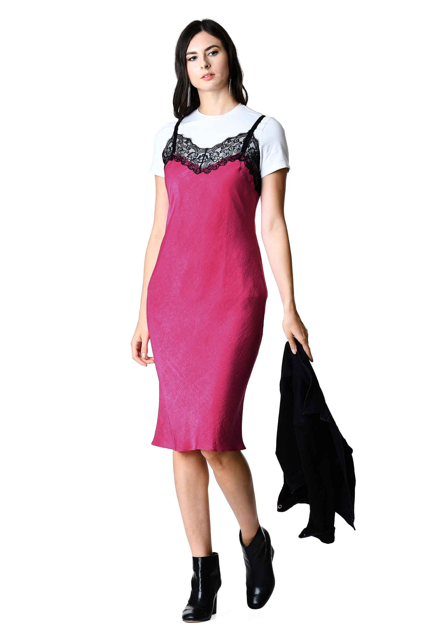 e83edac448eb Below knee length dresses hot pink dresses light weight dresses machine jpg  1480x2200 Hot pink flowy