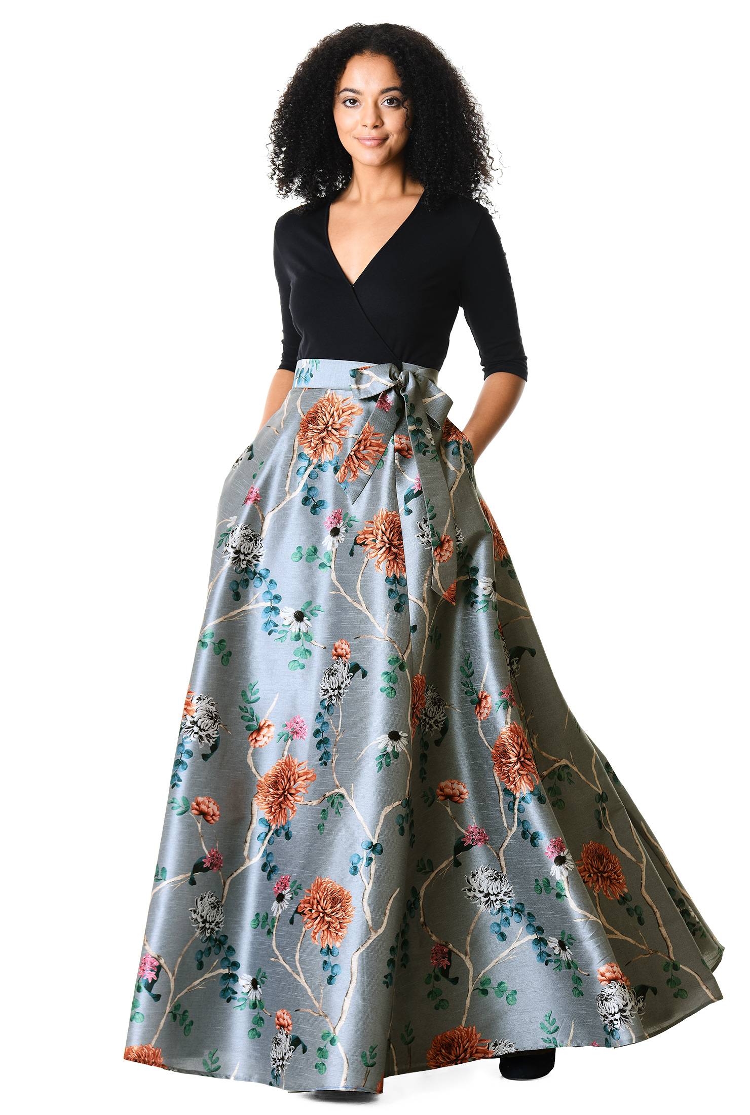 d783c8bf96a71 Floral Full Skirt Dress