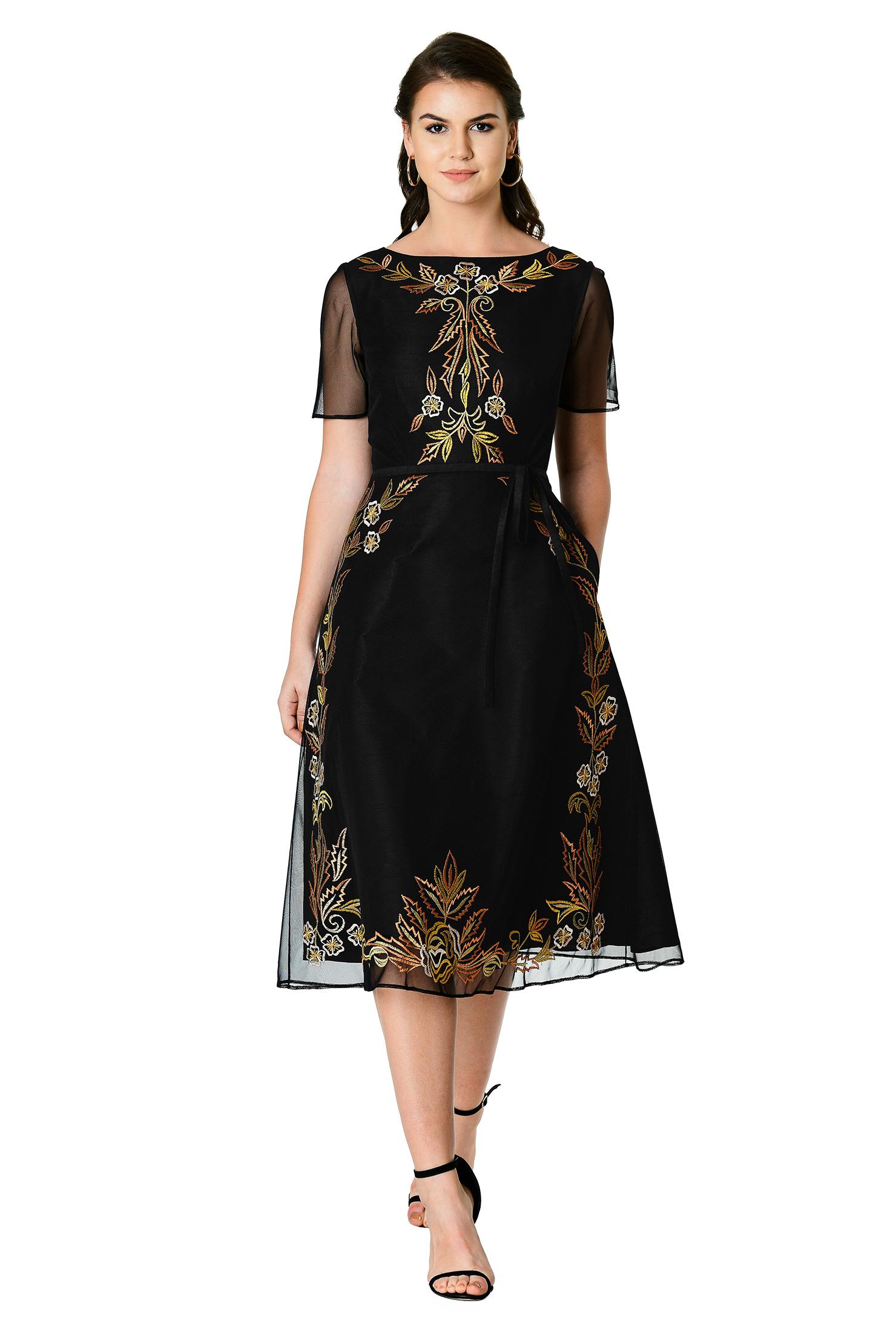 ff29da5da8 back zip dresses, beautiful dresses, belt dresses, boat neck dresses,  Elegant