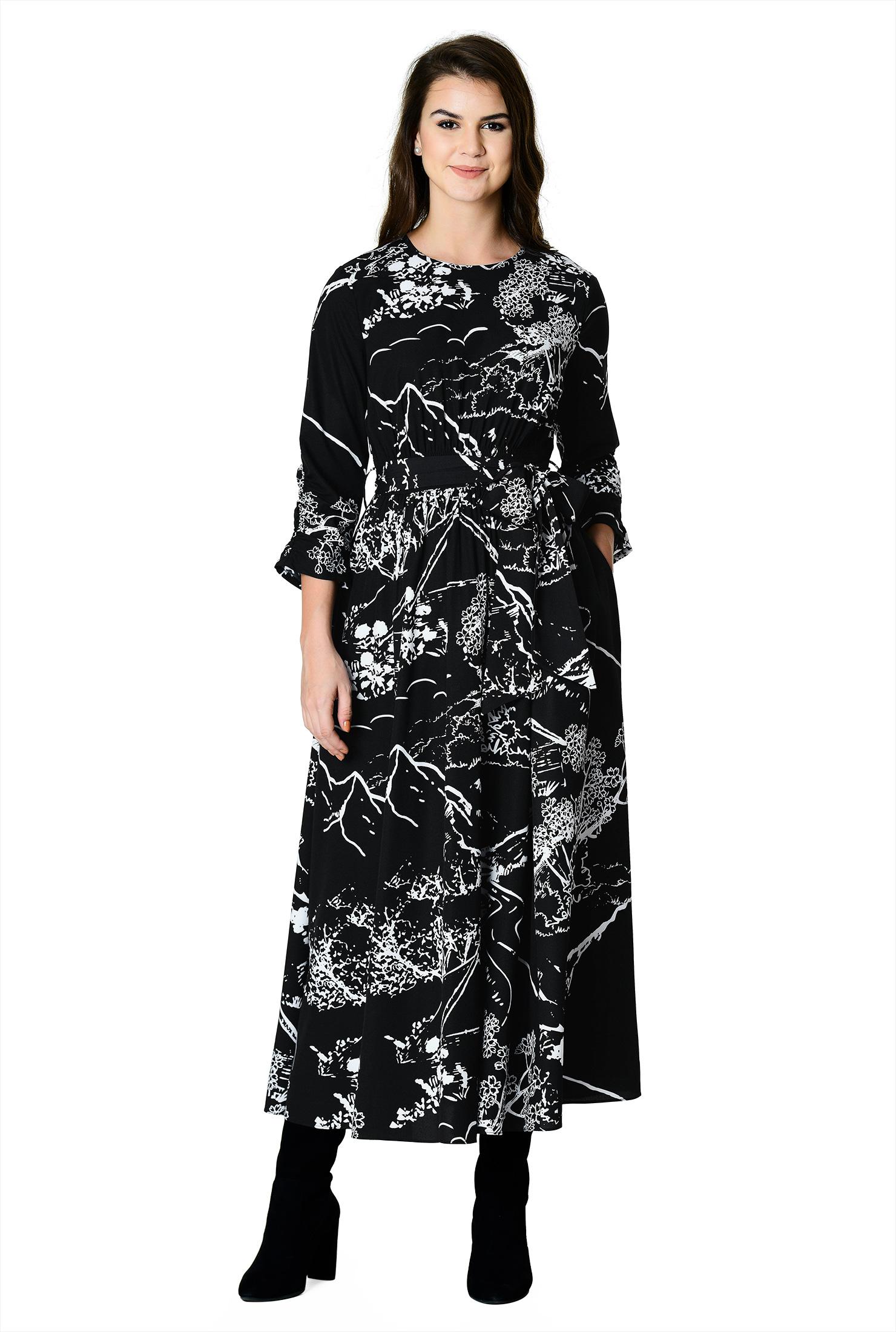 ccef53dd47 3/4 Length Sleeve Dresses, 4