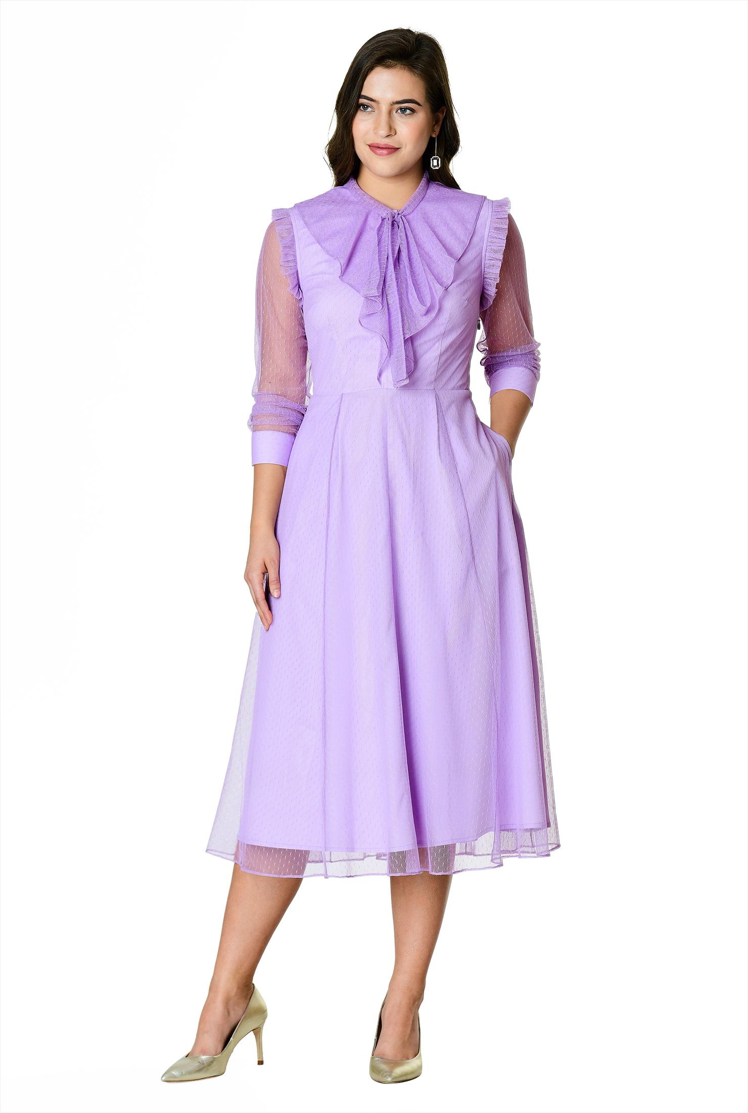 0577b67f8b0 Long Sleeve Frill Skirt Dress - Gomes Weine AG
